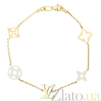 Золотой браслет Лоурен в стиле Луи Виттон SUF--322241ж