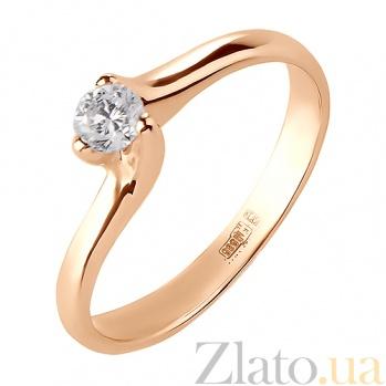Кольцо из красного золота с бриллиантом Элья R 0594/крас/бр