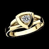 Бриллиантовое кольцо в лимонном золоте Dream & Love
