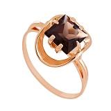 Кольцо из красного золота с раухтопазом Заир