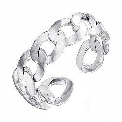 Серебряное разомкнутое кольцо 000137561