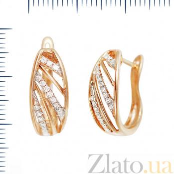 Серьги из красного золота Эдита с бриллиантами 000081133