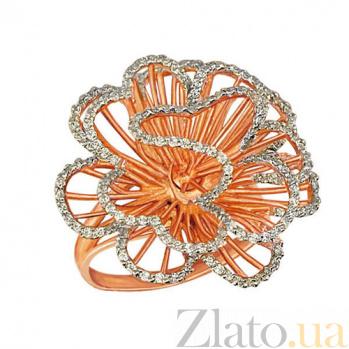 Кольцо из красного золота Нежный цветок с фианитами VLT--ТТ1042-2