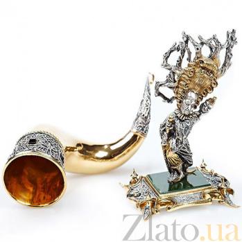Серебряная композиция Рог и Кукловод 493/к