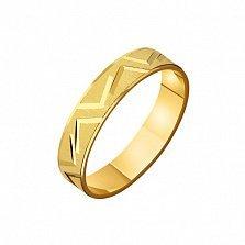 Золотое обручальное кольцо Ты мой сон