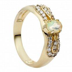 Золотое кольцо с опалом и бриллиантами Антонина