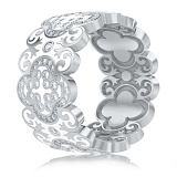 Обручальное кольцо из белого золота Калейдоскоп Любви: В ожидании Чуда