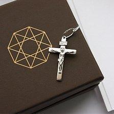 Крестик из серебра Всевышний ІНЦІ с родиевым покрытием