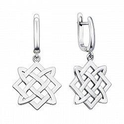 Серебряные серьги-подвески Звезда Лады-Богородицы 000135095