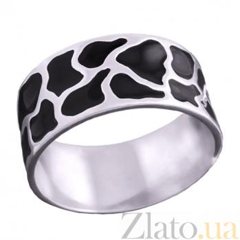 Серебряное кольцо с эмалью Аврора 1058/2э черн