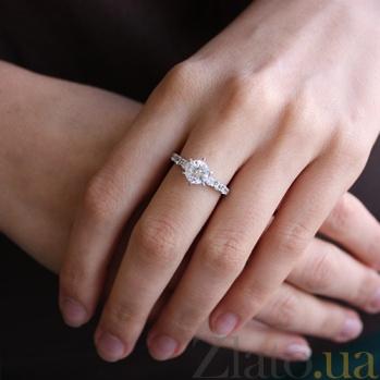 Серебряное кольцо с фианитами Велена 000029164