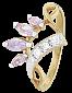 Серебряное кольцо с разноцветными фианитами Веер 000025569
