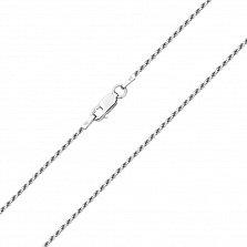 Серебряная цепочка в плетении жгут  000124955