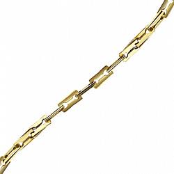 Золотая цепь Baraka Кливленд в желтом цвете с бриллиантом 000033393