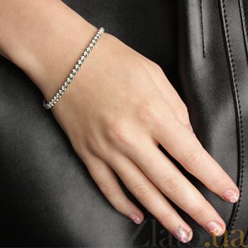 Браслет из белого золота с бриллиантами Ванесса TO00790