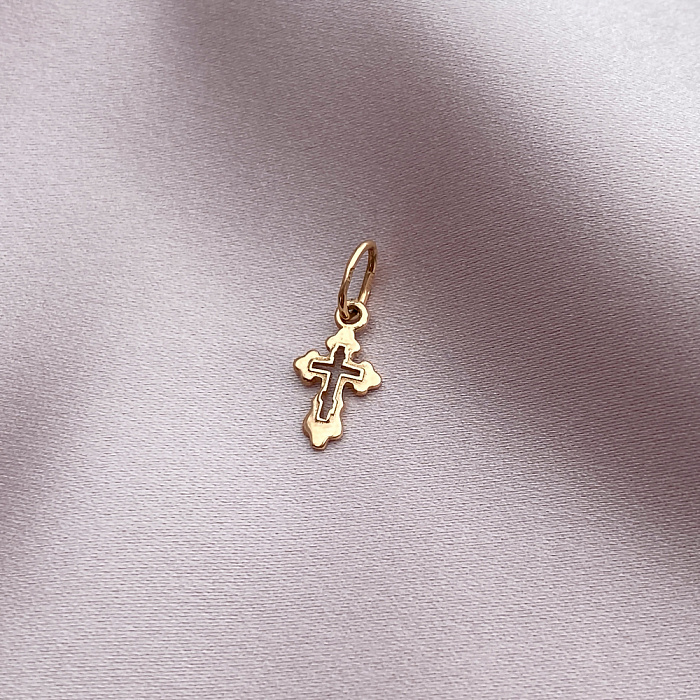 Крестик из золота красного цвета 000141301 000141301