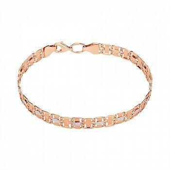 Золотой браслет в комбинированном цвете 000146251