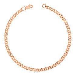 Золотой браслет в красном цвете 000101601