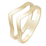 Золотое кольцо в желтом цвете Вектор