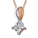 Кулон из золота с бриллиантом Лили