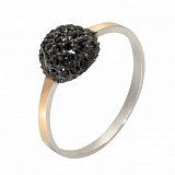 Серебряное кольцо Любава с фианитами