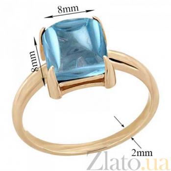 Кольцо в красном золоте Ингрид с голубым топазом 000023480