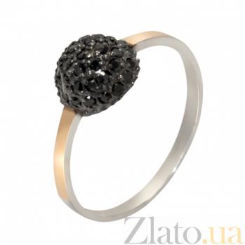 Серебряное кольцо Любава с золотом и фианитами BGS--693ч.р._к