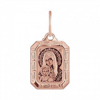 Ладанка из красного золота Божья Матерь 000139921