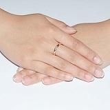 Золотое кольцо Элина с бриллиантом
