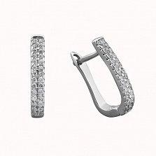 Серебряные серьги Айрин с цирконием