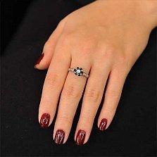 Кольцо из белого золота с сапфиром Франсуаза