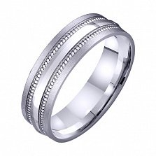 Золотое обручальное кольцо Феерия чувств