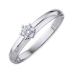 Кольцо из белого золота с бриллиантом 000139258