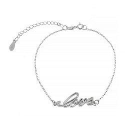 Серебряный браслет с цирконием Love 000027970