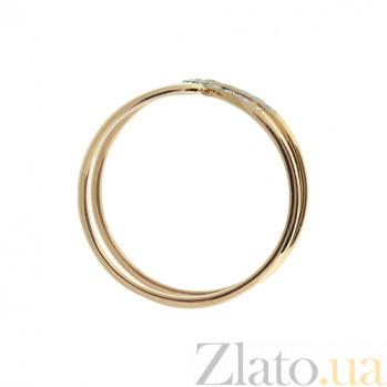 Золотое кольцо в красном цвете с бриллиантами Голда 000021420