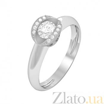 Золотое кольцо с бриллиантами Леда KBL--К1079/бел/брил