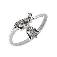 Серебряное кольцо с цирконием Morning