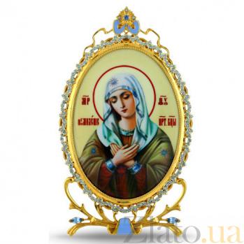 Серебряная настольная  икона с образом Божьей Матери Умиление 2.78.0322