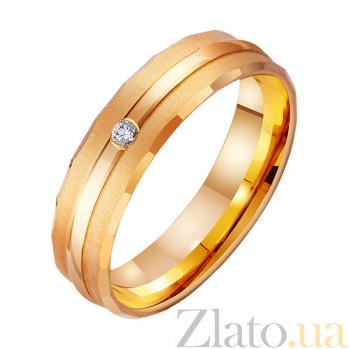 Золотое обручальное кольцо Прикосновения с фианитами TRF--4121303