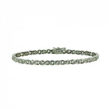 Серебряный браслет с бриллиантами 000022378