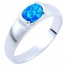 Серебряное кольцо Надира с голубым опалом