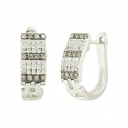 Золотые серьги с бриллиантами Николь