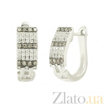 Золотые серьги с бриллиантами Николь 1С309-0017