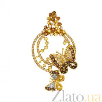 Кулон из желтого золота с фианитами Женевьева VLT--ТТ3412-1
