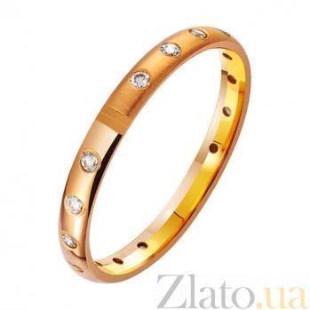 Золотое обручальное кольцо с фианитами Звездная дорожка TRF--412976