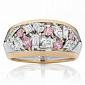 Кольцо Argile из белого  и розового золота с бриллиантами и розовыми сапфирами R-cjAr-W/R-5s-23d