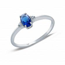 Кольцо серебряное с синим цирконием Лорен