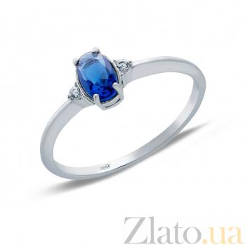 Кольцо серебряное с синим цирконием Лорен AQA--71107с
