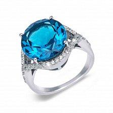 Кольцо серебряное с голубым кварцем Аскания