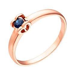 Кольцо в красном золоте Желание сердца с сапфиром 000031536